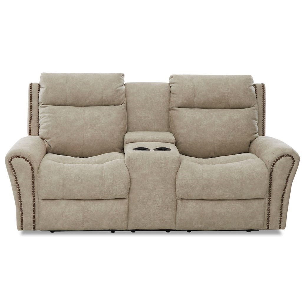 Brompton Power Reclining Loveseat w/ Pwr Headrests by Klaussner at Northeast Factory Direct