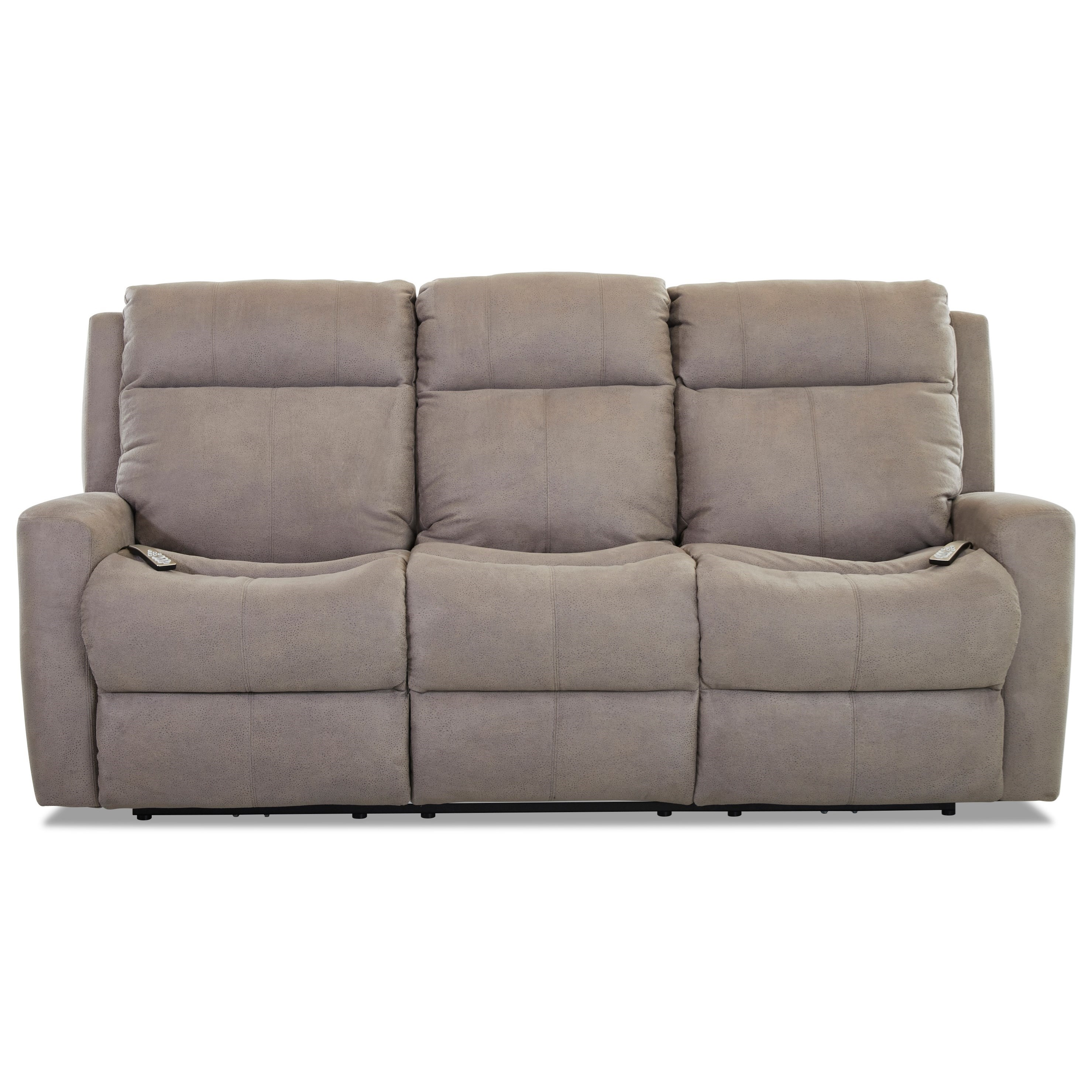 Brooks Power Recline Sofa w/ Pwr Head & Massage by Klaussner at Northeast Factory Direct