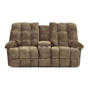 Klaussner Brownsville  Console Reclining Loveseat