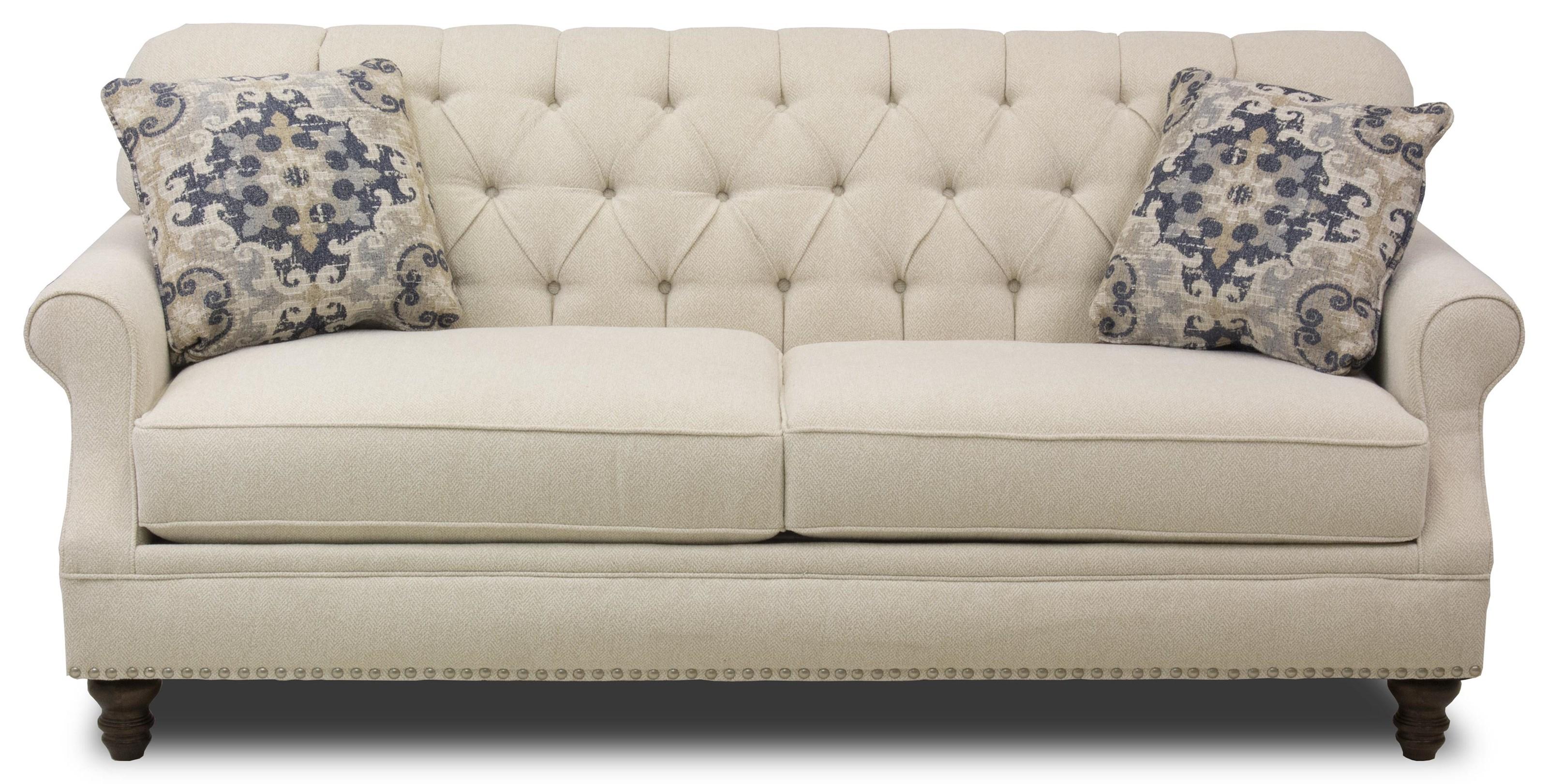Metropia Barrington Traditional Tufted Apartment Size Sofa With Nailheads Ruby Gordon Home Sofas