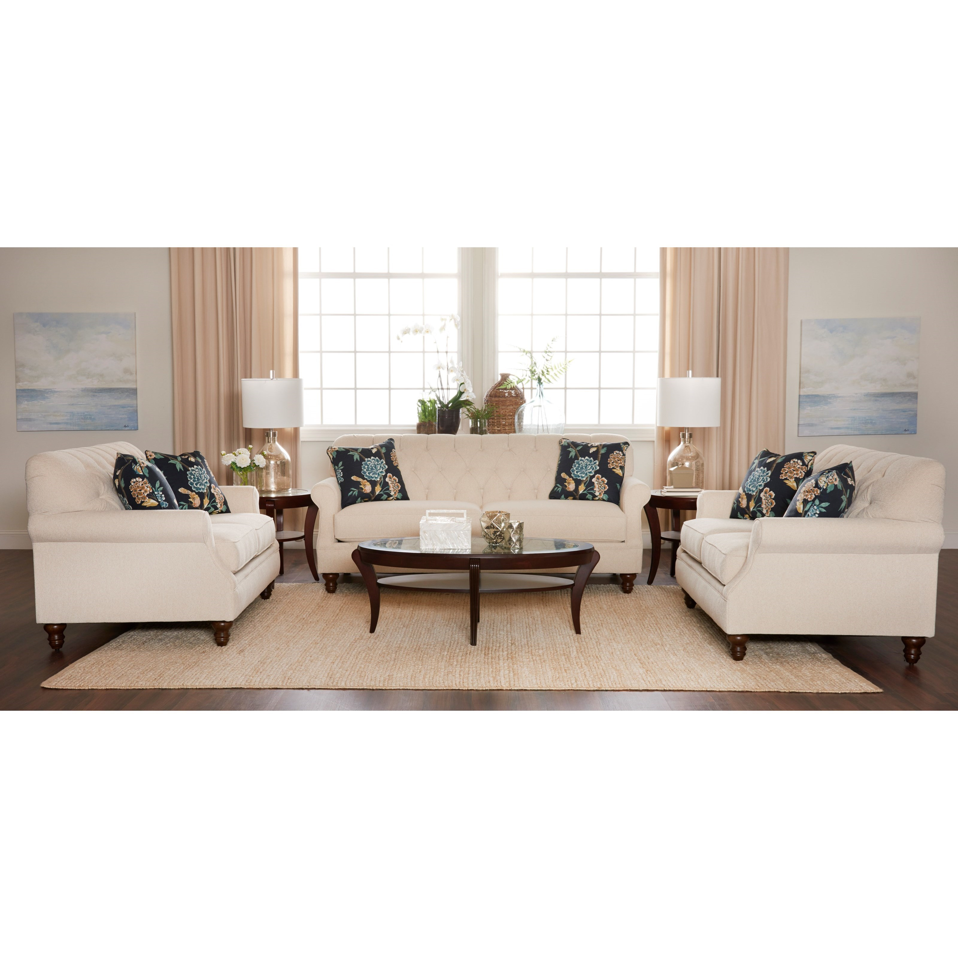 Ashley Furniture In Burbank: Klaussner Burbank Traditional Tufted Apartment-Size Sofa