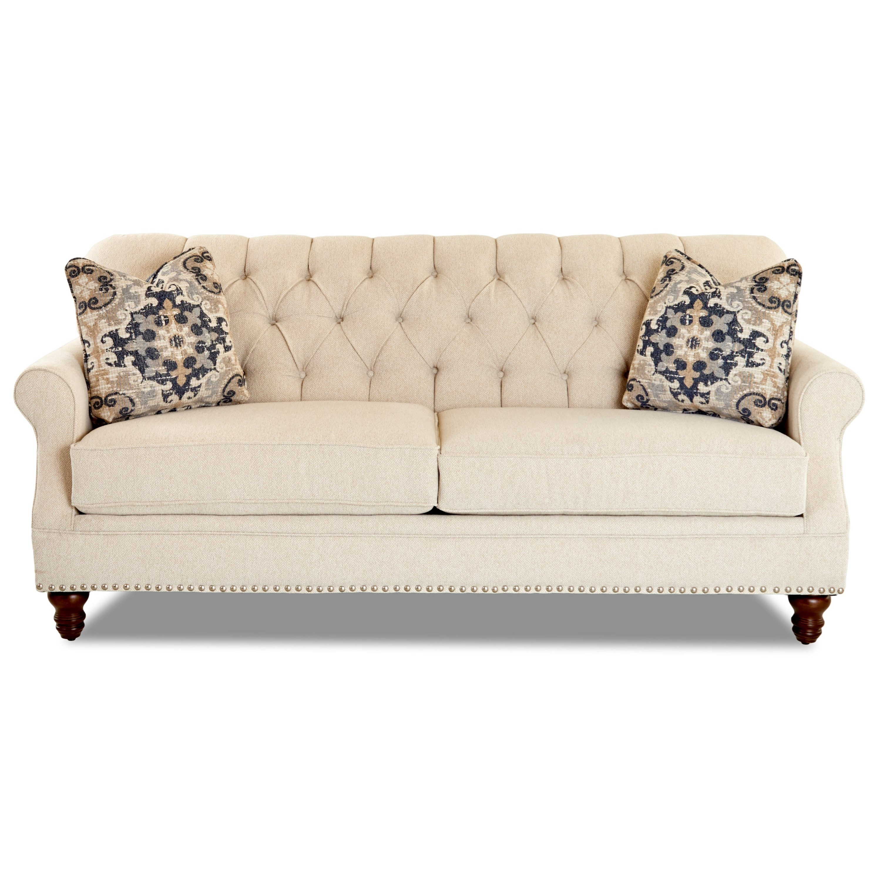 Burbank Sofa w/ Nailheads by Klaussner at Northeast Factory Direct