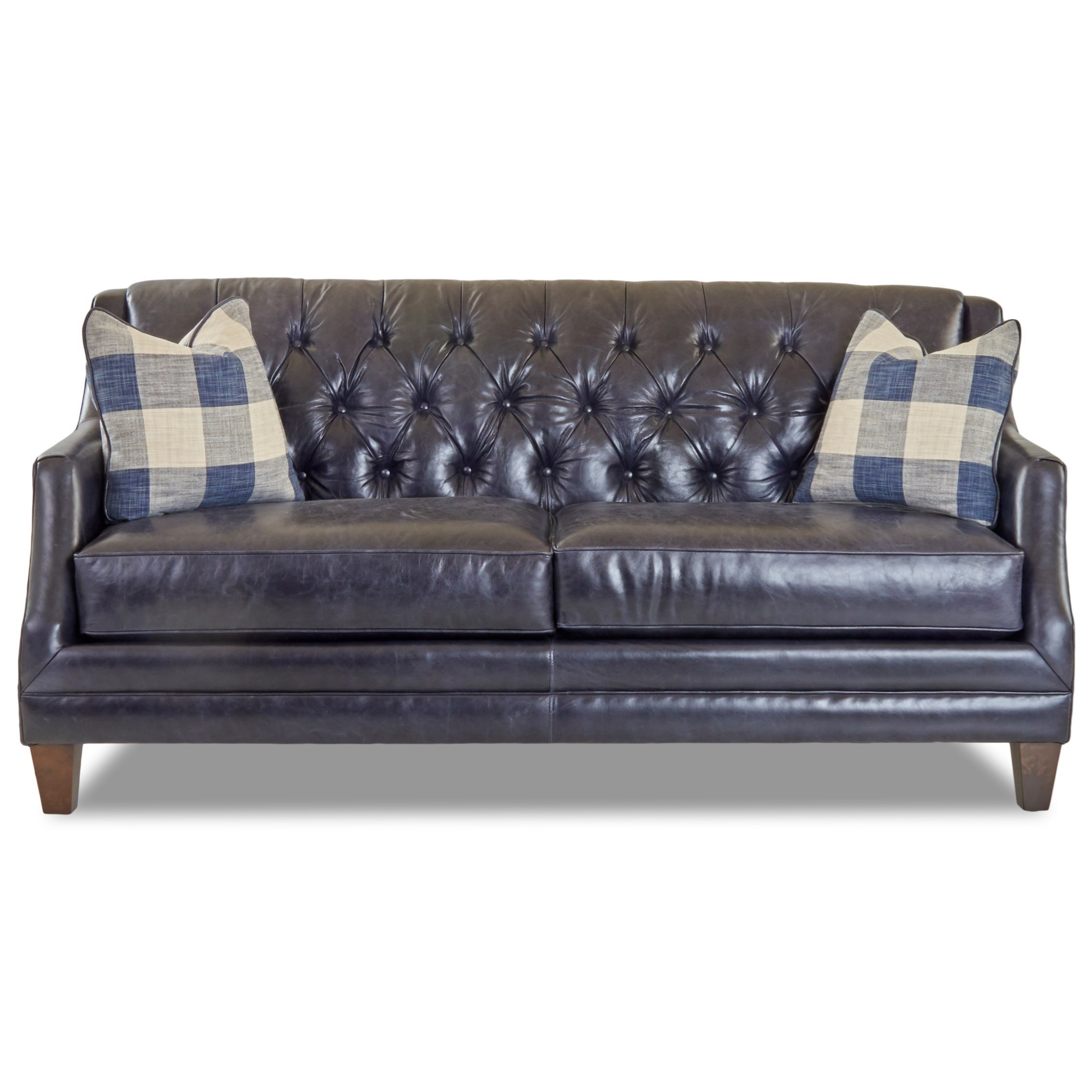 Pillows Traditional Sofa: Klaussner Buxton Traditional Tufted Sofa With Fabric Toss