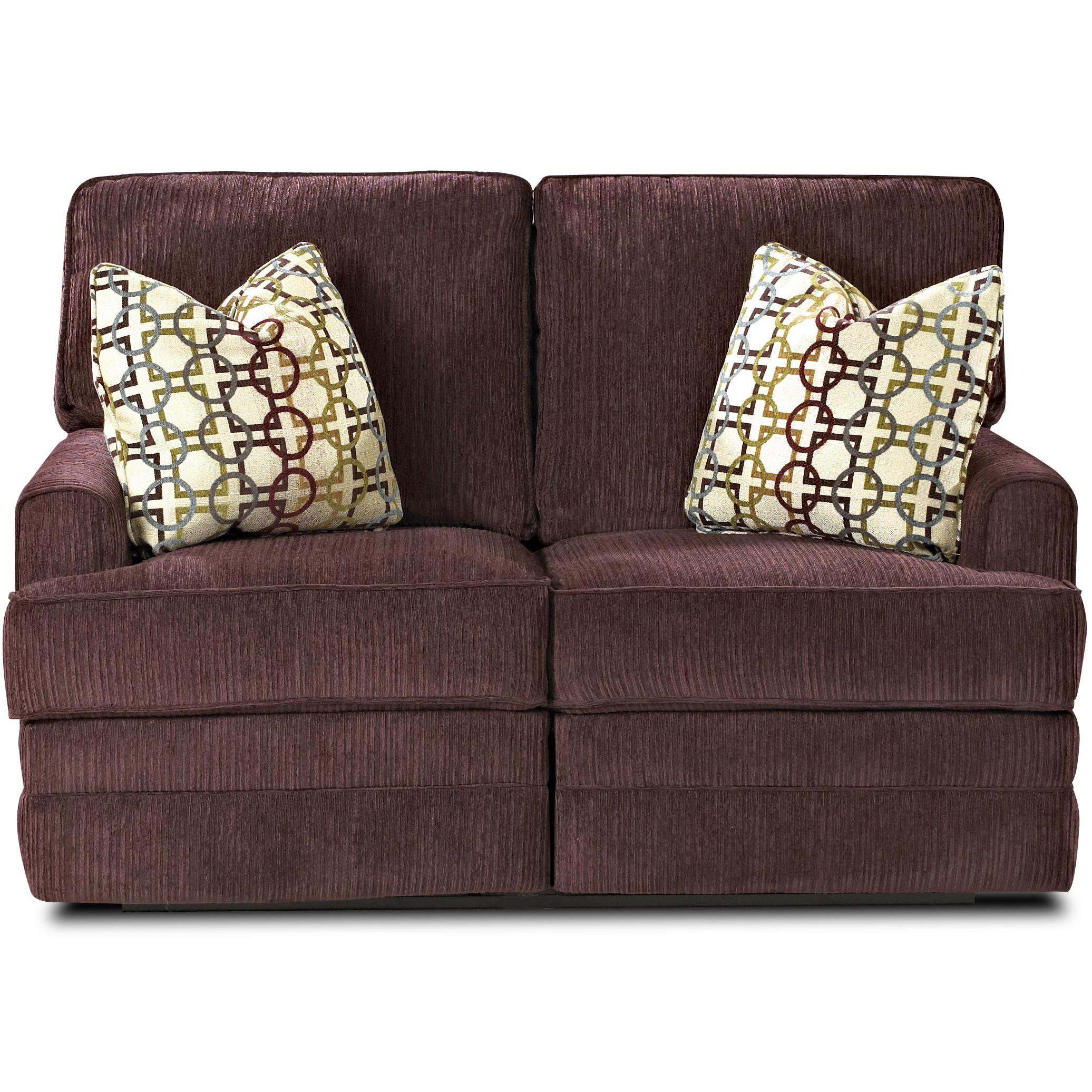 Klaussner Callahan Casual Power Reclining Love Seat - Item Number: 78803 PWRLS-Korey Eggplant