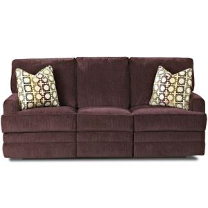 Klaussner Callahan Casual Reclining Sofa with Pillows
