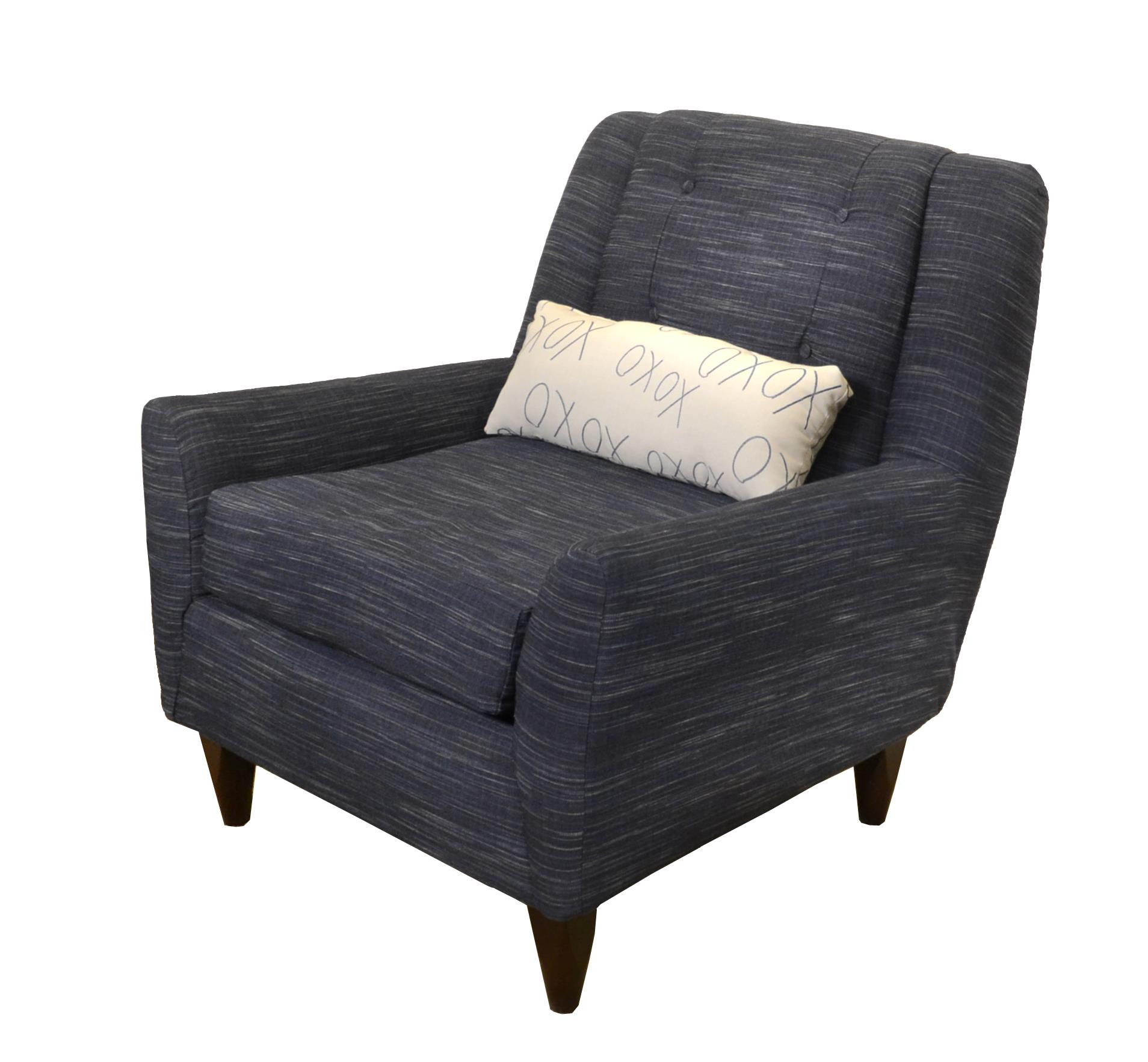 Klaussner Carly Occasional Chair - Item Number: K47400 OC-LaneyNavy