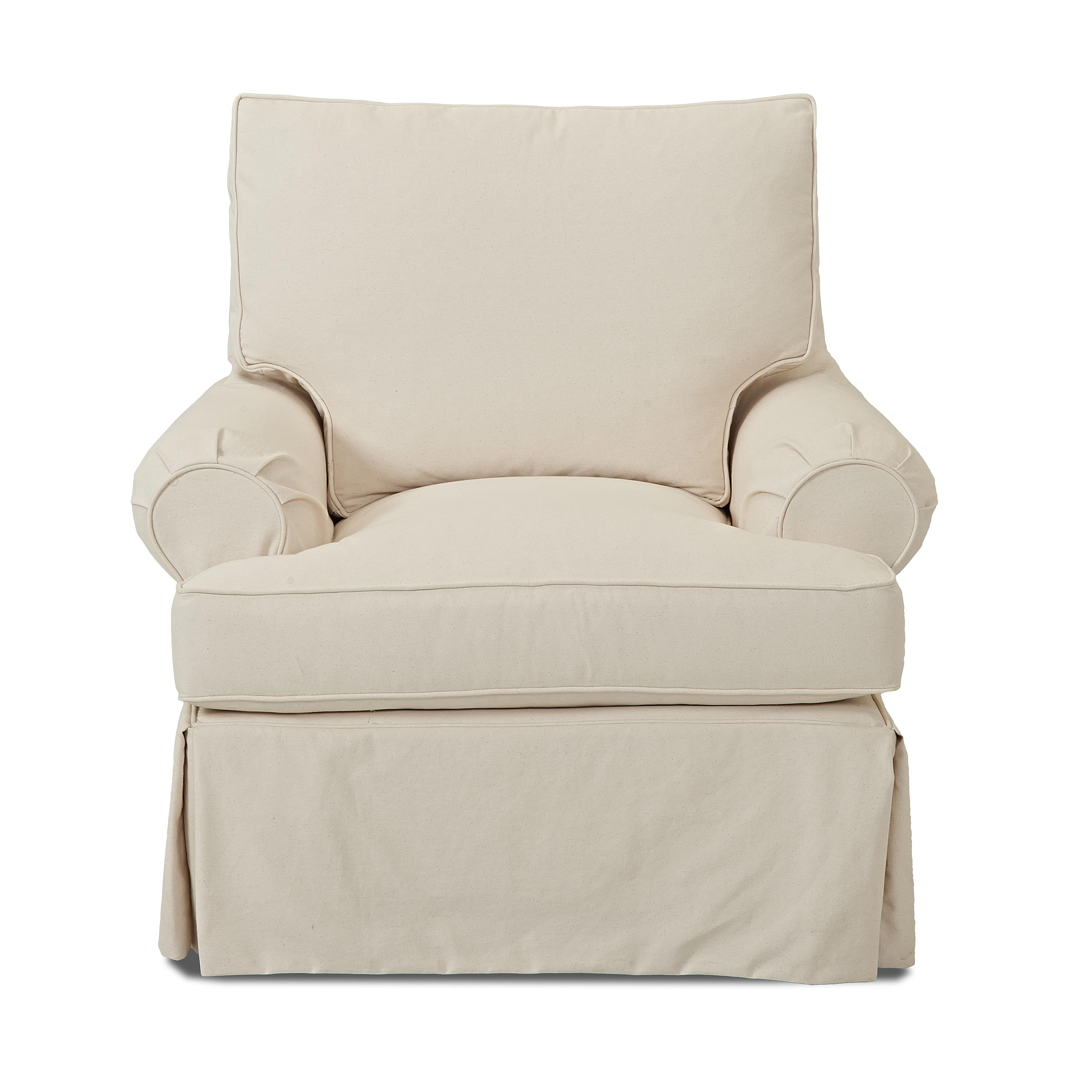 Carolina Swivel Glider Chair w/ Slipcover by Klaussner at Northeast Factory Direct