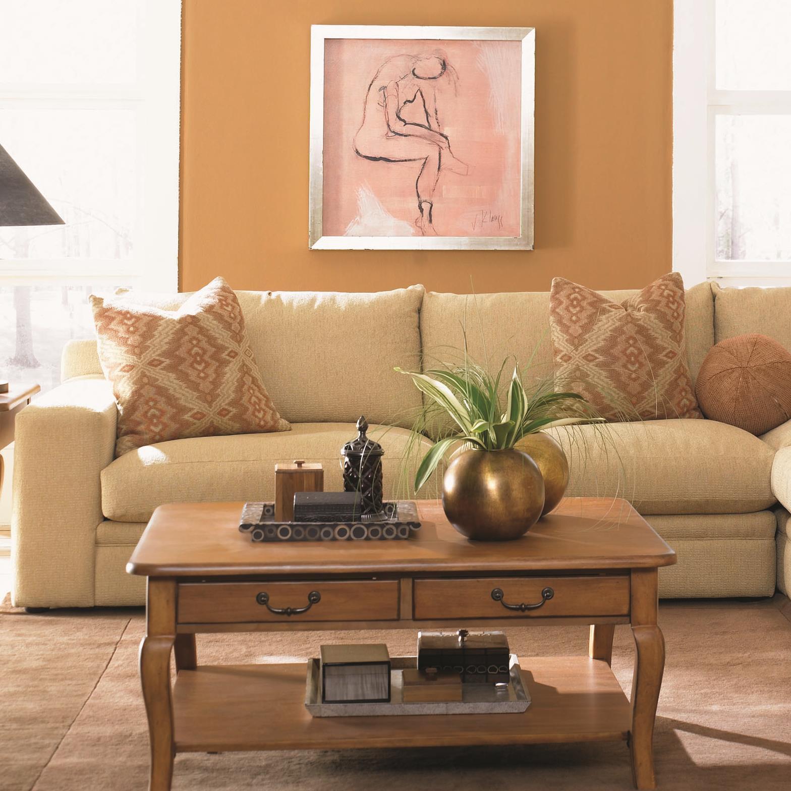 Klaussner Casa Mesa Love Seat - Item Number: D19500L LS-BurdonBuff