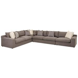 4 Pc Sectional Sofa w/ RAF Chair