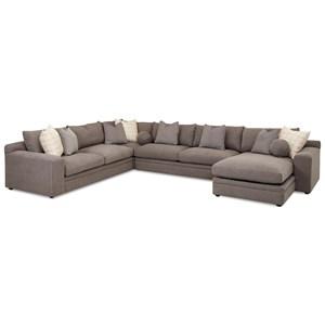 Klaussner Casa Mesa 4 Pc Sectional Sofa w/ RAF Chaise