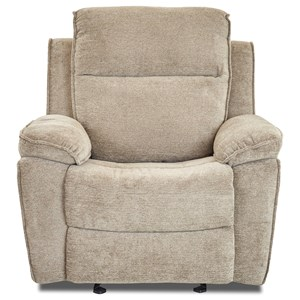 Klaussner Castaway Casual Swivel Gliding Reclining Chair with Bucket Seat and Pillow Arms