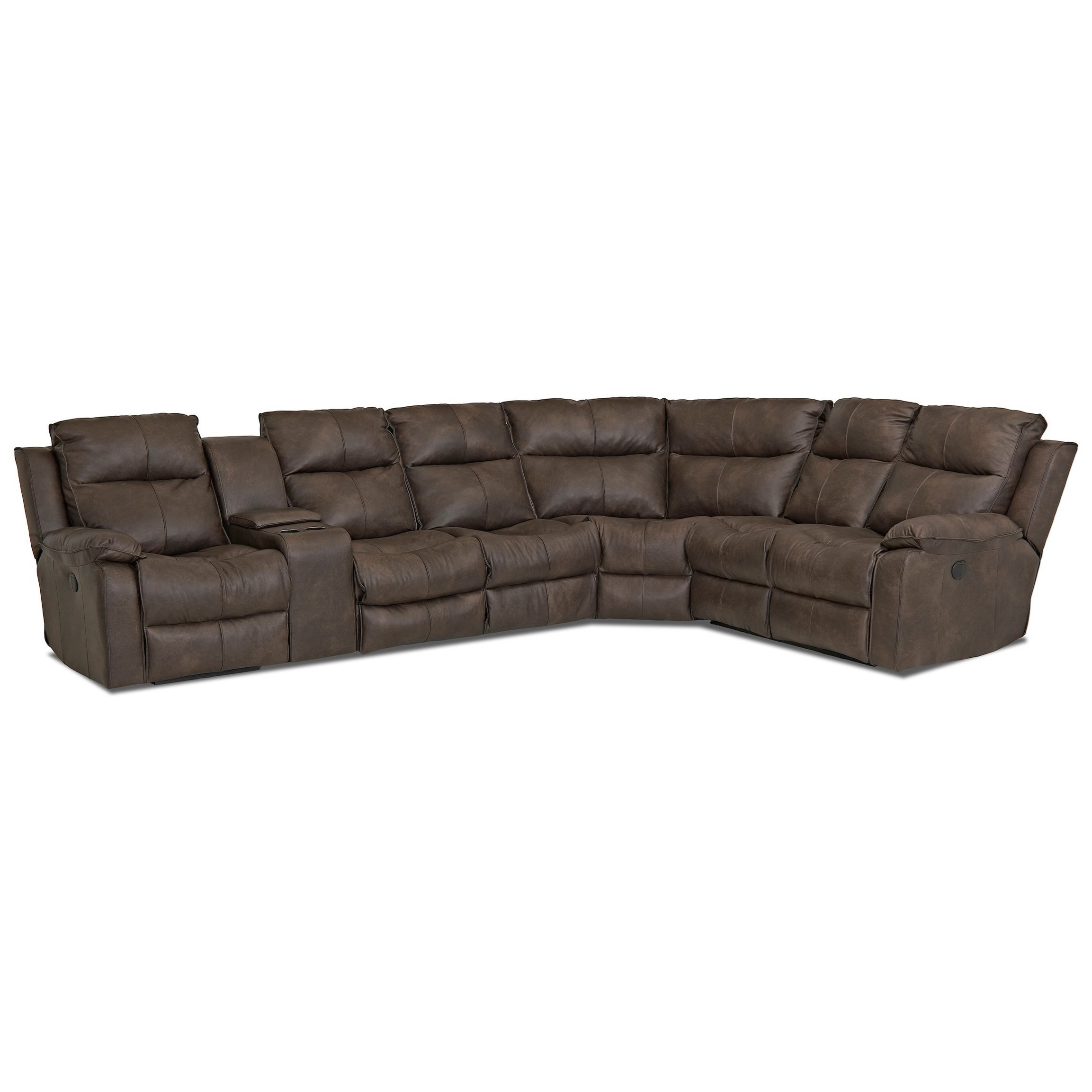 Castaway Reclining Sectional Sofa by Klaussner at Northeast Factory Direct