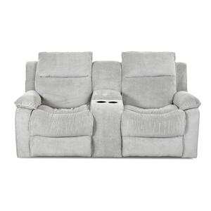 Simple Elegance Castaway Casual Reclining Loveseat with Console