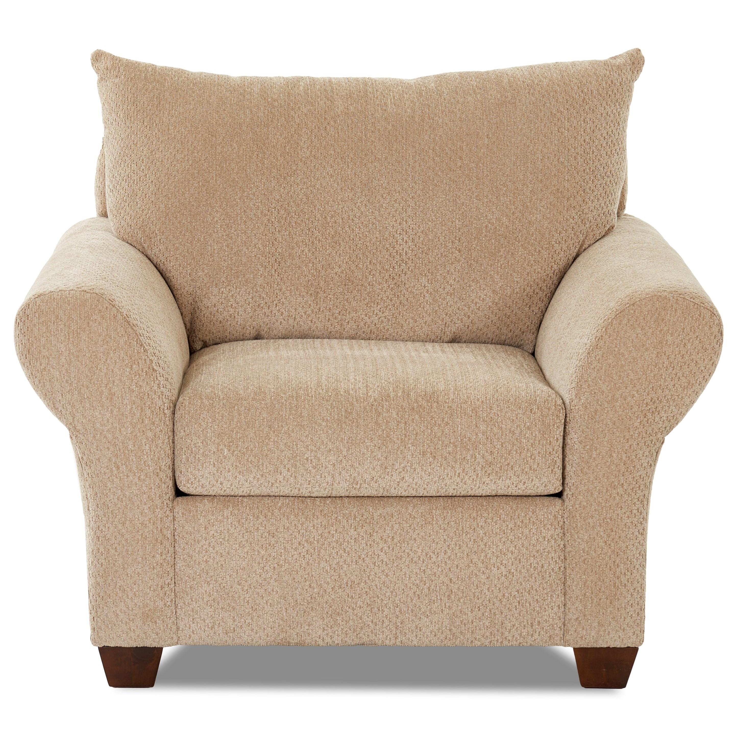 Klaussner Cedar Creek Chair - Item Number: K16300 C-Chunky Putty