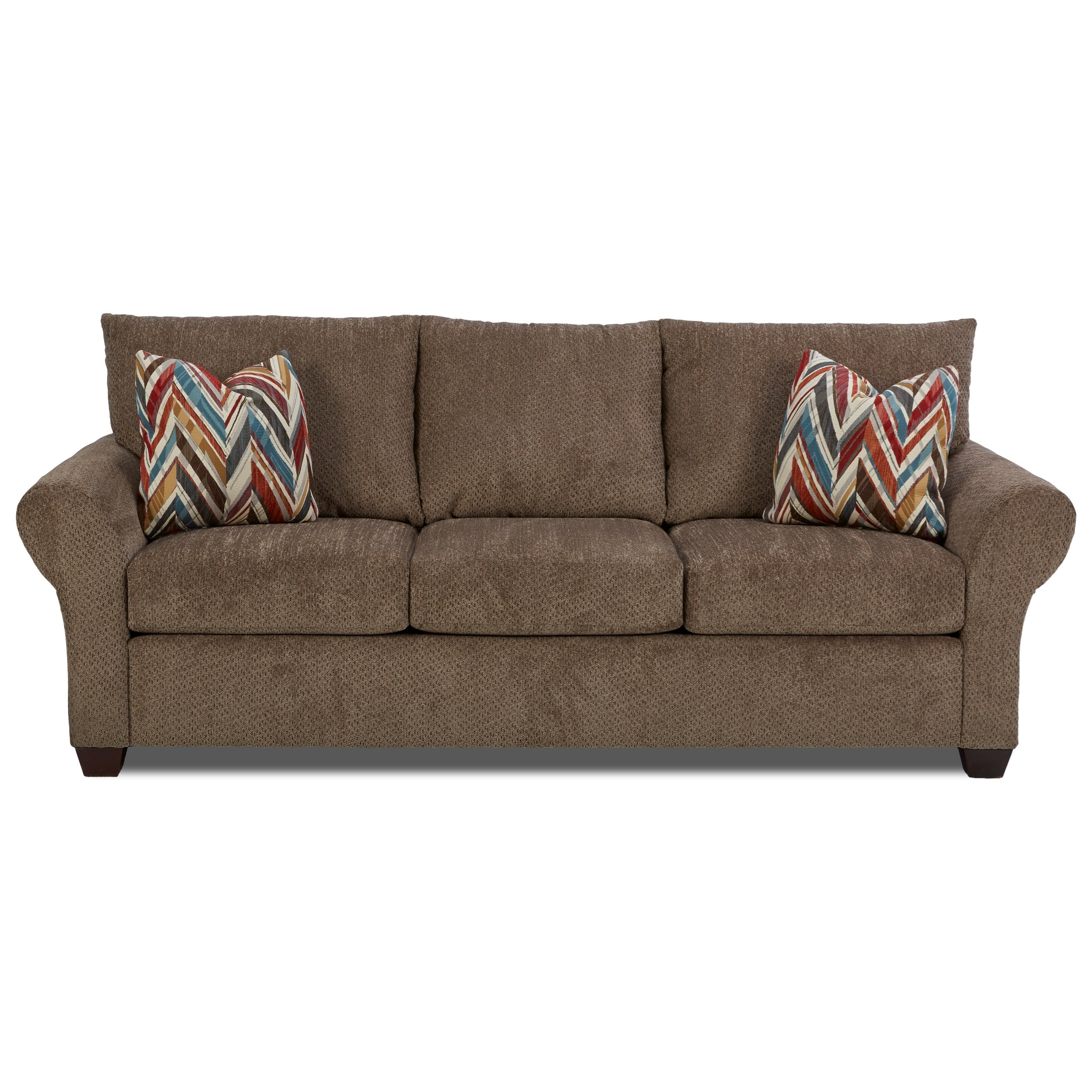 Klaussner Cedar Creek Dreamquest Sleeper Sofa - Item Number: K16300 DQSL-Chunky Otter