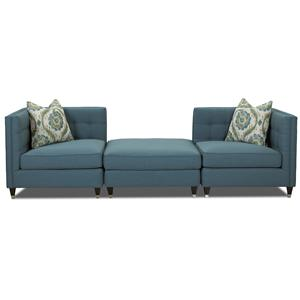 Elliston Place Celeste Contemporary Three Piece Sectional Sofa