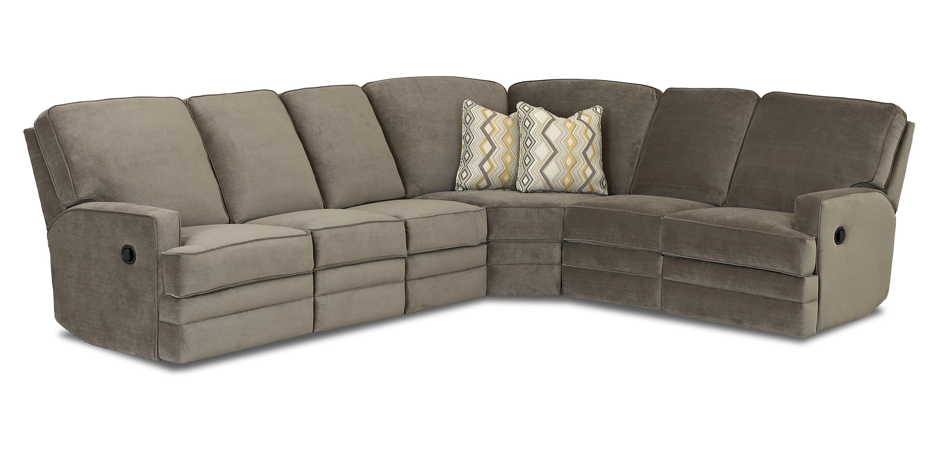 Klaussner Chapman Casual Power Reclining Sectional Sofa
