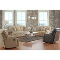 Klaussner Chapman Casual Power Reclining Sofa with Throw Pillows