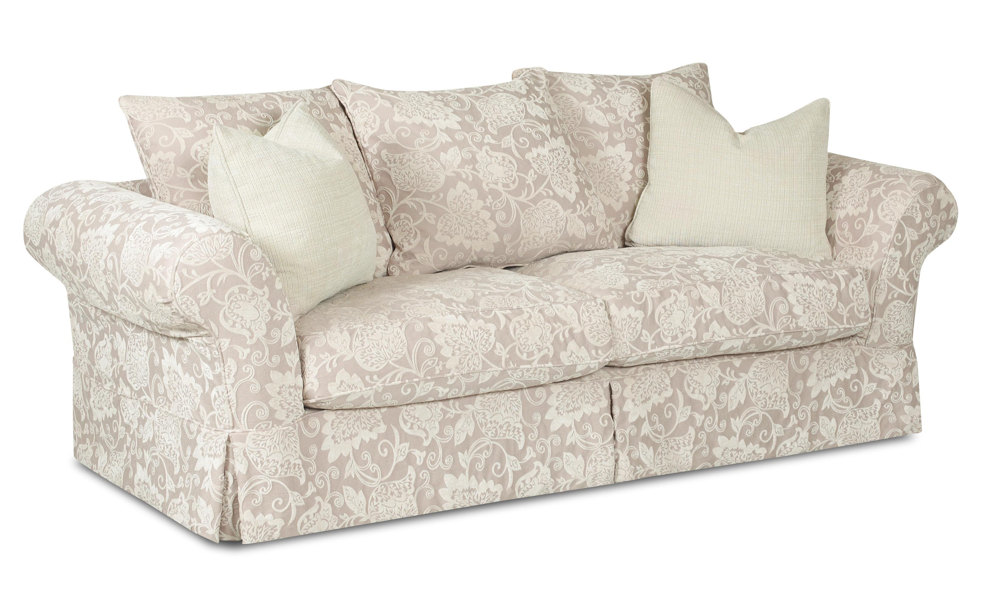 Klaussner Charleston Sofa with Scatterback Pillows - Item Number: D80100S