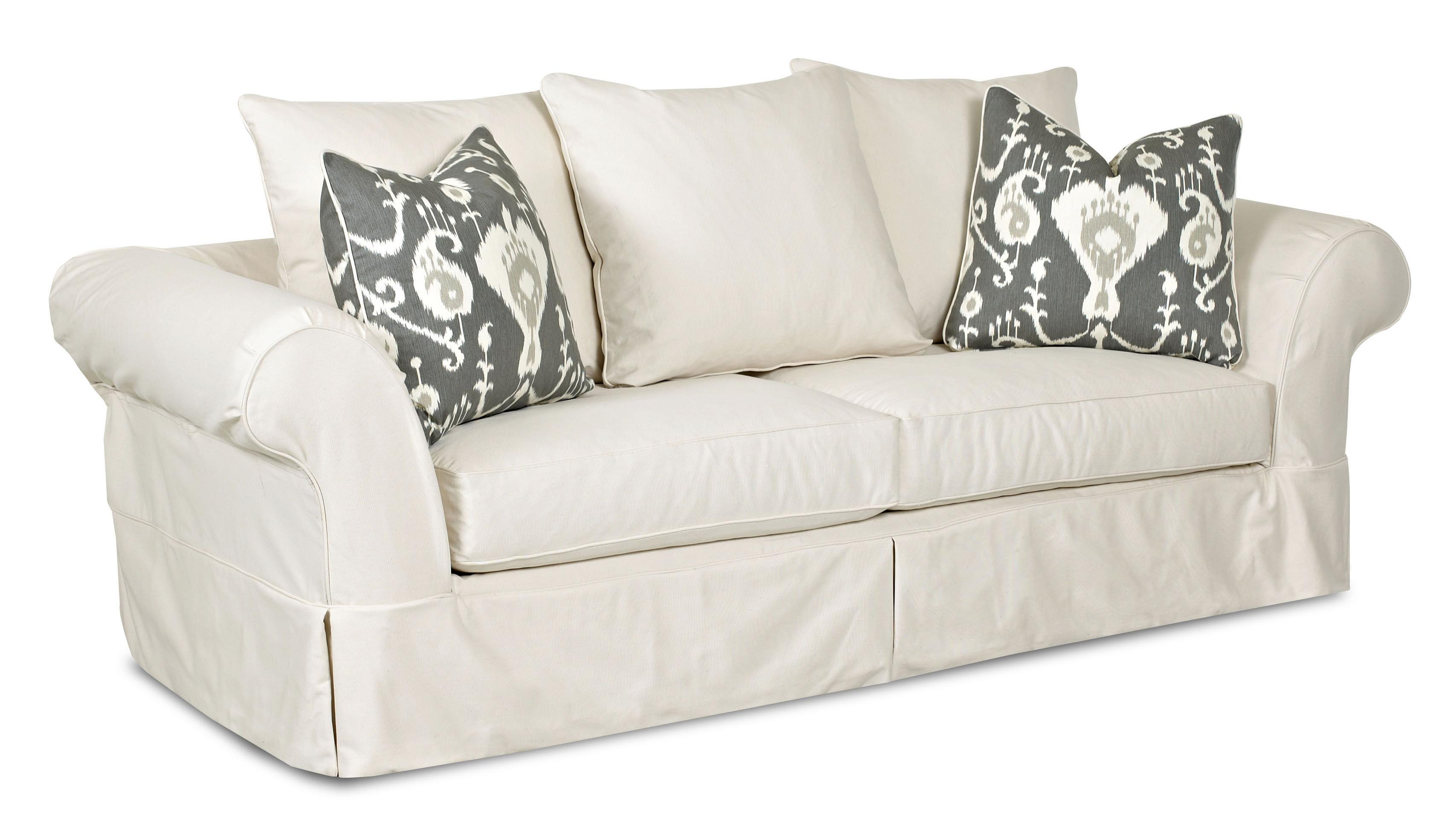 Klaussner Charleston Sofa With Scatterback Pillows And