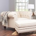 Klaussner Charlotte  Chair and 1/2 - Item Number: D93410 BC-Lizzy Linen