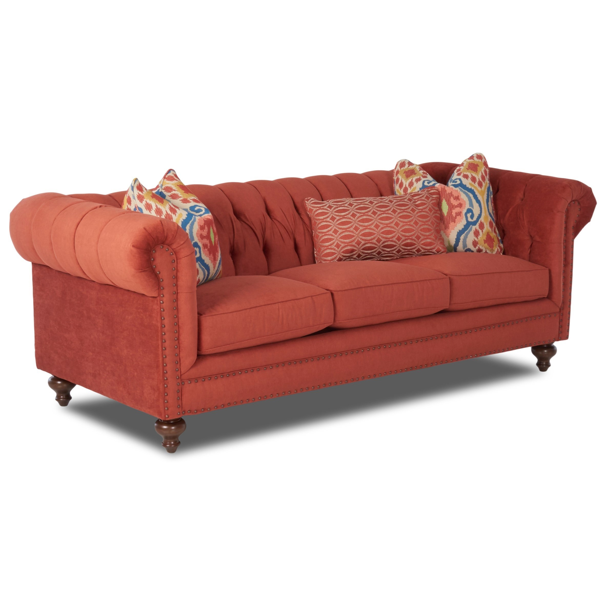 Ashleys Furniture Charlotte Nc: Klaussner Charlotte D93410 S Traditional Chesterfield Sofa