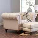 Klaussner Charlotte Chair and 1/2 - Item Number: D93415 BC-Lizzy Linen