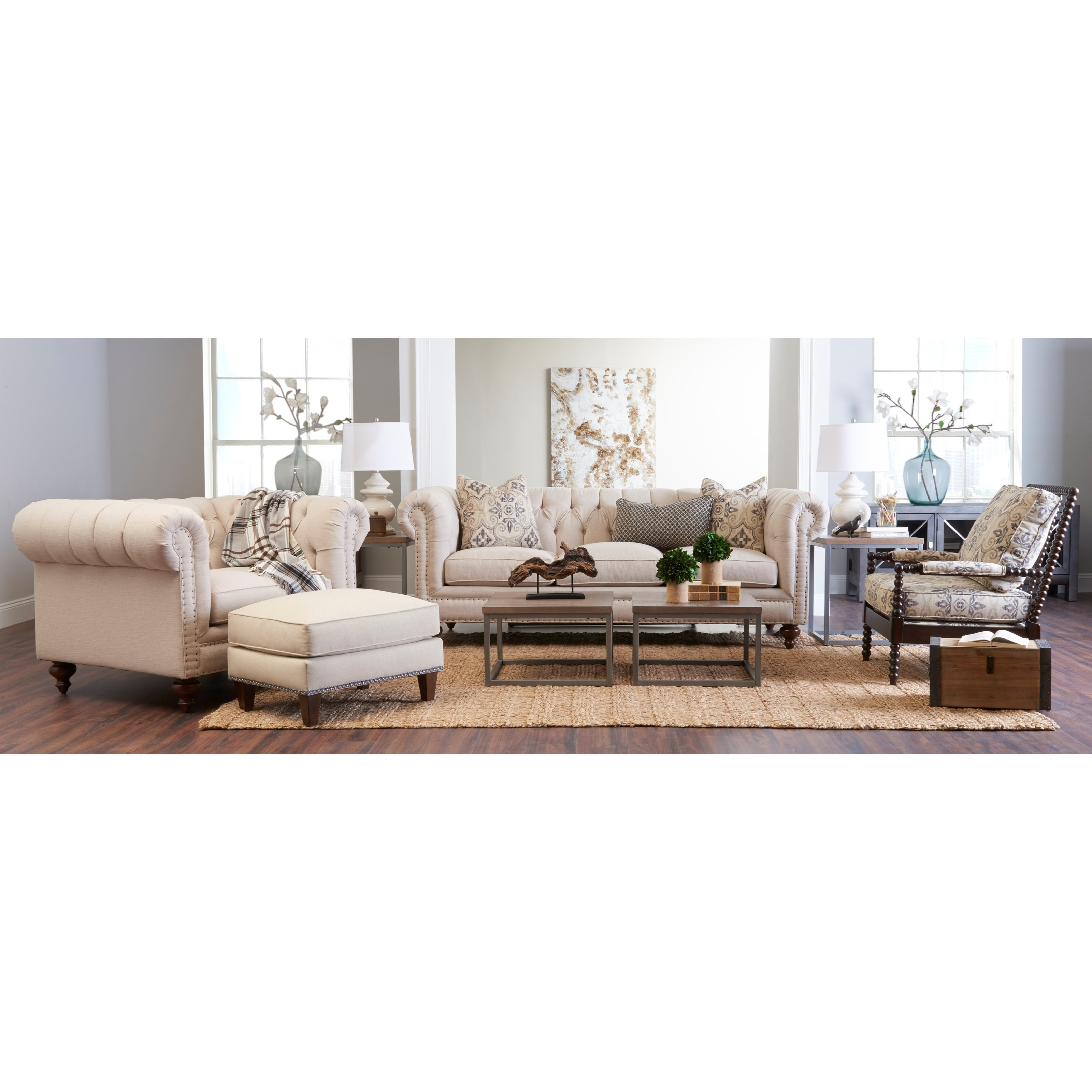 Charlotte Living Room Group by Klaussner at Johnny Janosik
