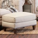 Klaussner Charlotte Ottoman - Item Number: D93415 OTTO-Lizzy Linen