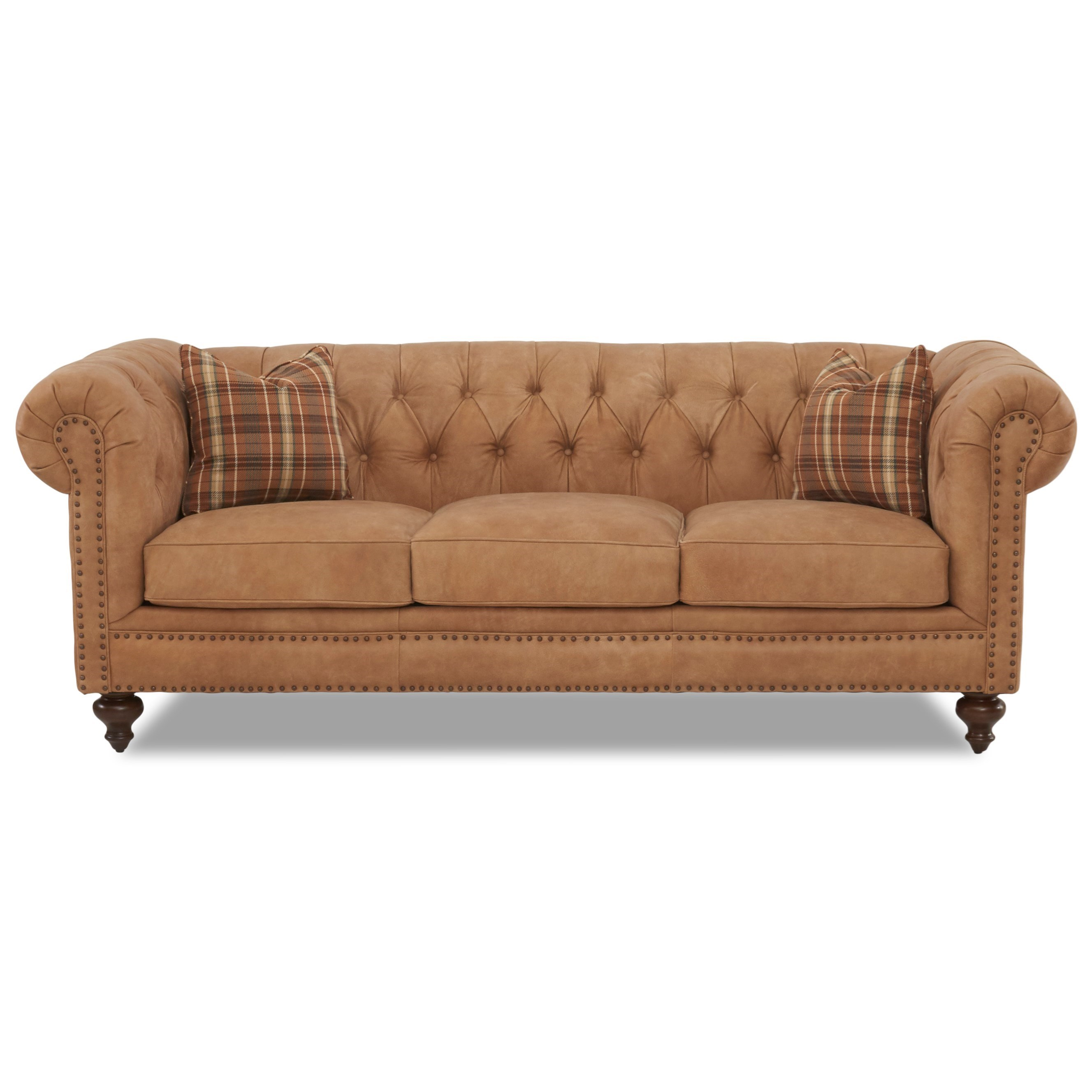 Klaussner Charlotte Traditional Chesterfield Sofa With