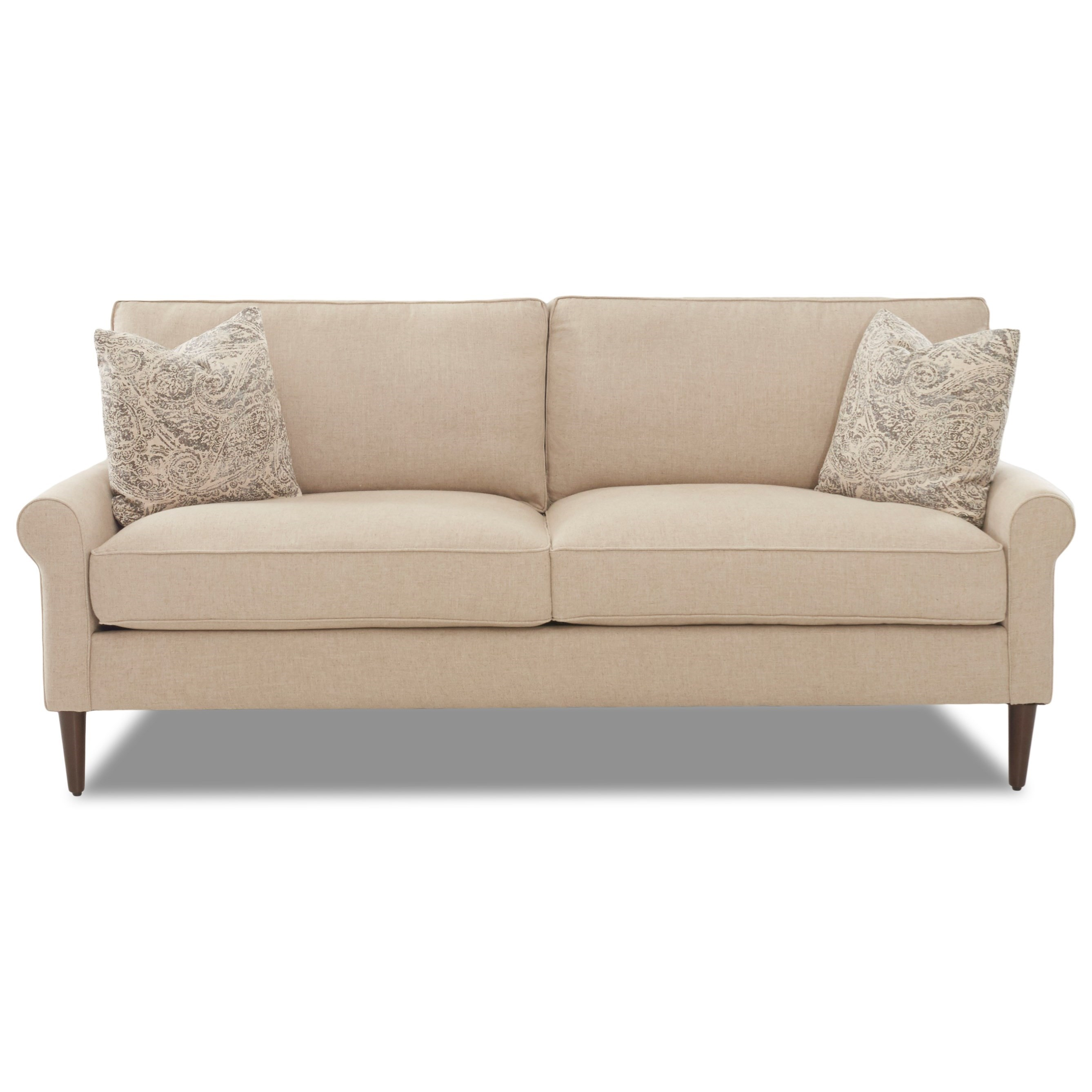 2 over 2 Sofa with Square Tapered Legs