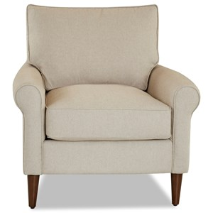 Chair with Round Tapered Legs