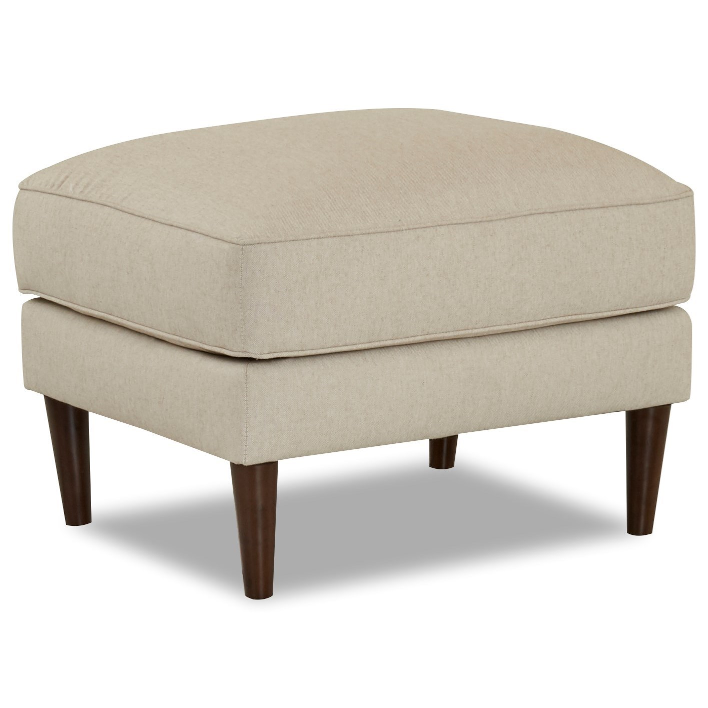 Ottoman with Round Tapered Legs