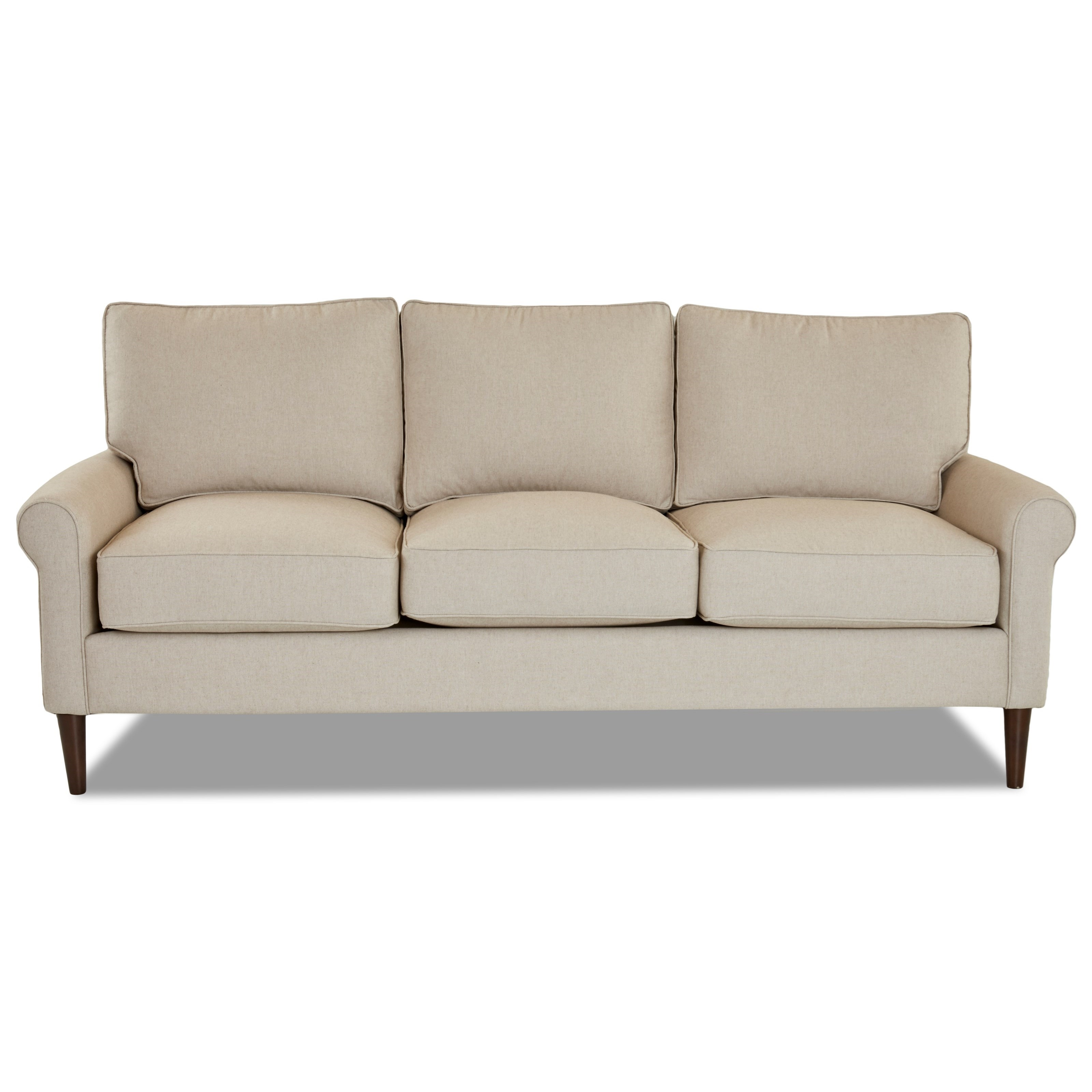 Chelsea Sofa with Round Tapered Legs by Klaussner at Johnny Janosik