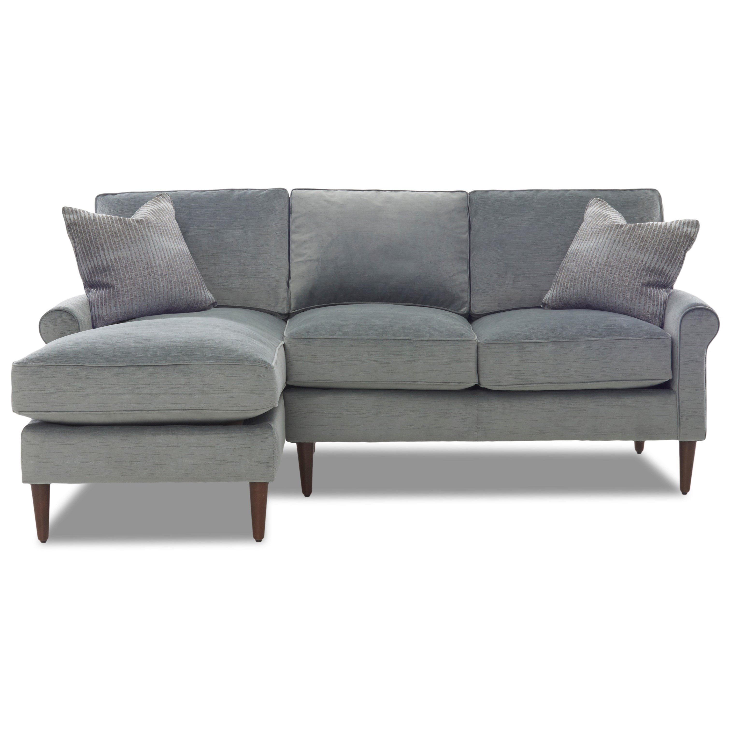 Sectional with Round Tapered Legs