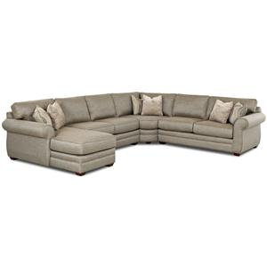 Elliston Place Clanton Sectional Sofa with Full Sleeper