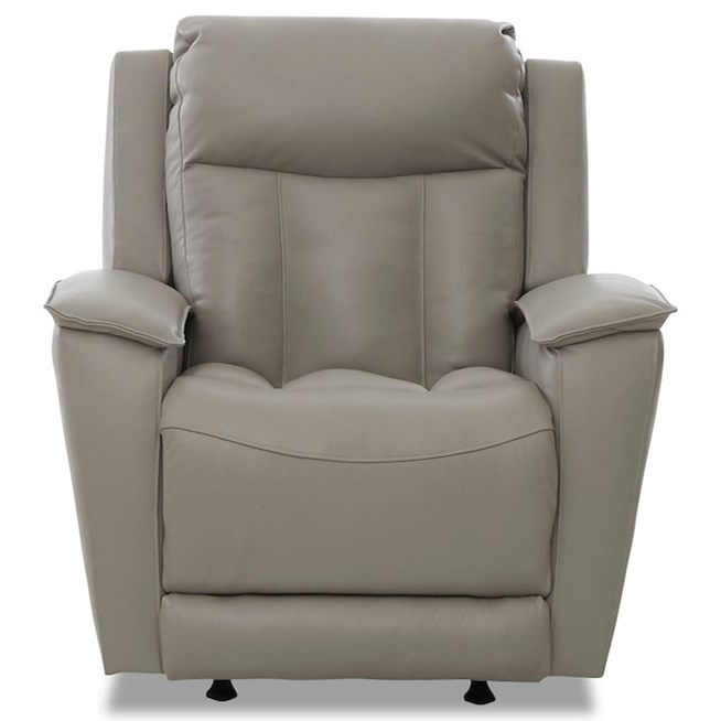 Clifford Pwr Rock Reclining Chair w/ Pwr Head/Lumbar by Klaussner at Johnny Janosik