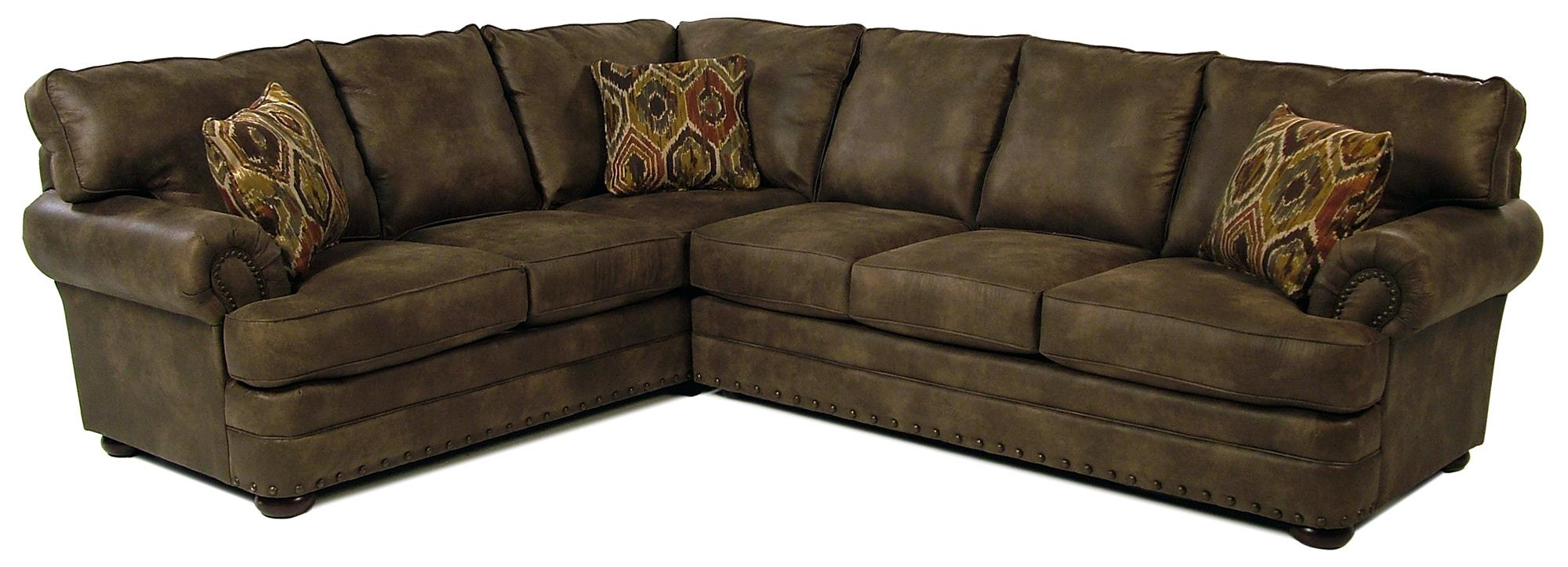 Simple Elegance San Padre Traditional 2-Piece Sectional - Item Number: K30200R+K30200L-CRNS