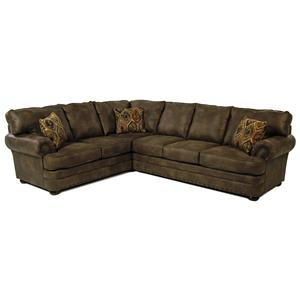 Simple Elegance San Padre Traditional 2-Piece Sectional