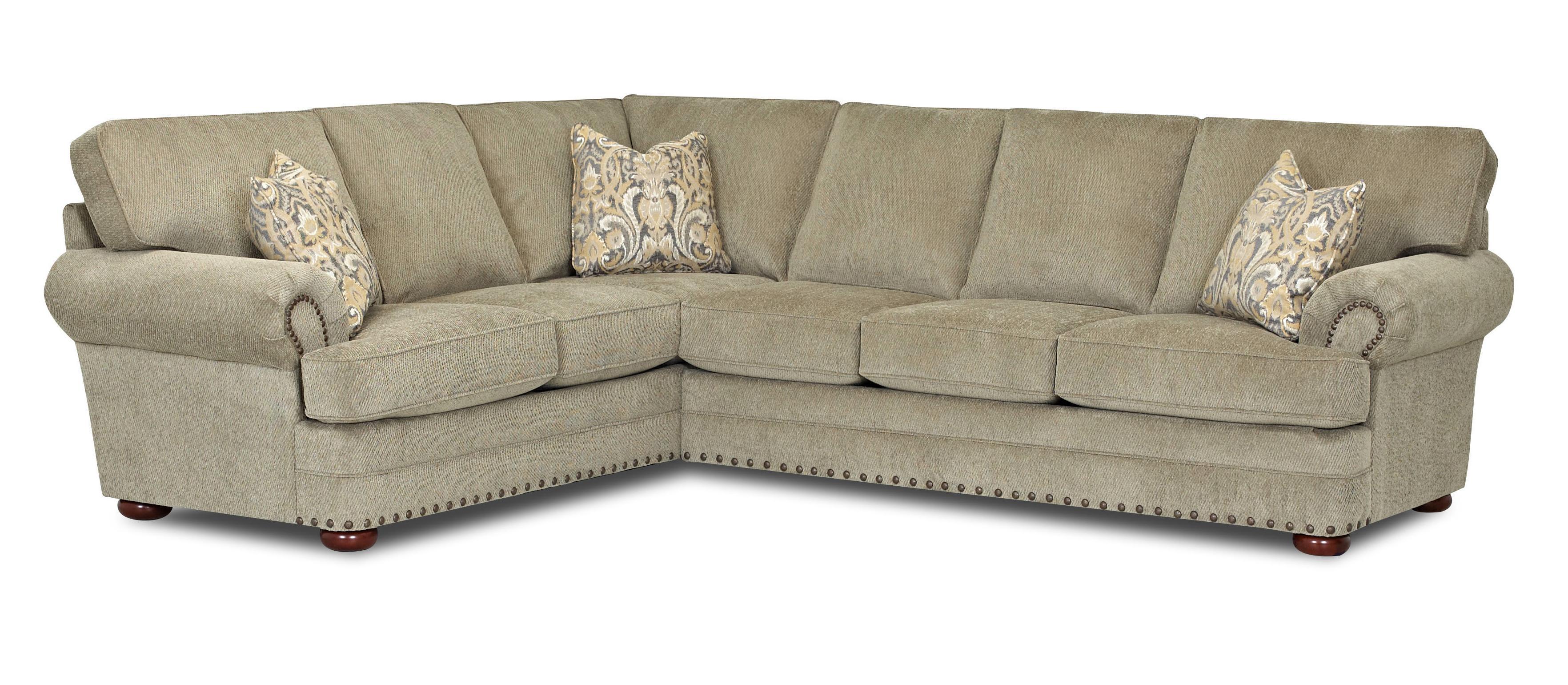 Traditioanl 2 Sectional Sofa