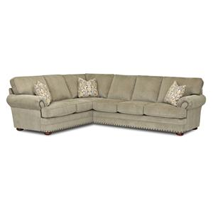 Klaussner Cliffside  Traditioanl 2 Sectional Sofa
