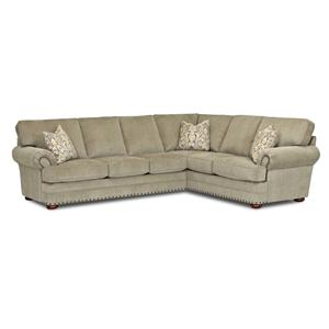 Elliston Place Cliffside  Traditional 2 Piece Sectional Sofa