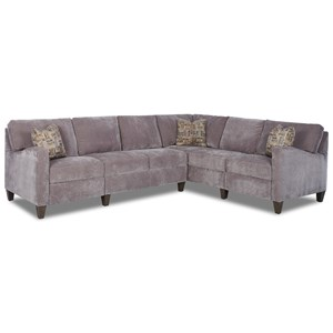 Klaussner Colleen Hybrid Reclining Sectional w/ RAF Corn Sofa