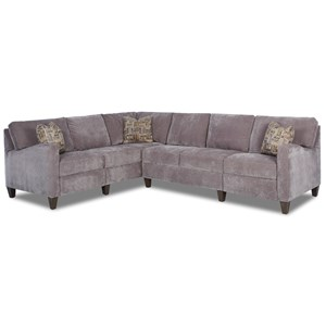 Klaussner Colleen Hybrid Reclining Sectional w/ LAF Corn Sofa