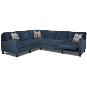 Elliston Place Colleen Hybrid Reclining Sectional w/ LAF Corn Sofa