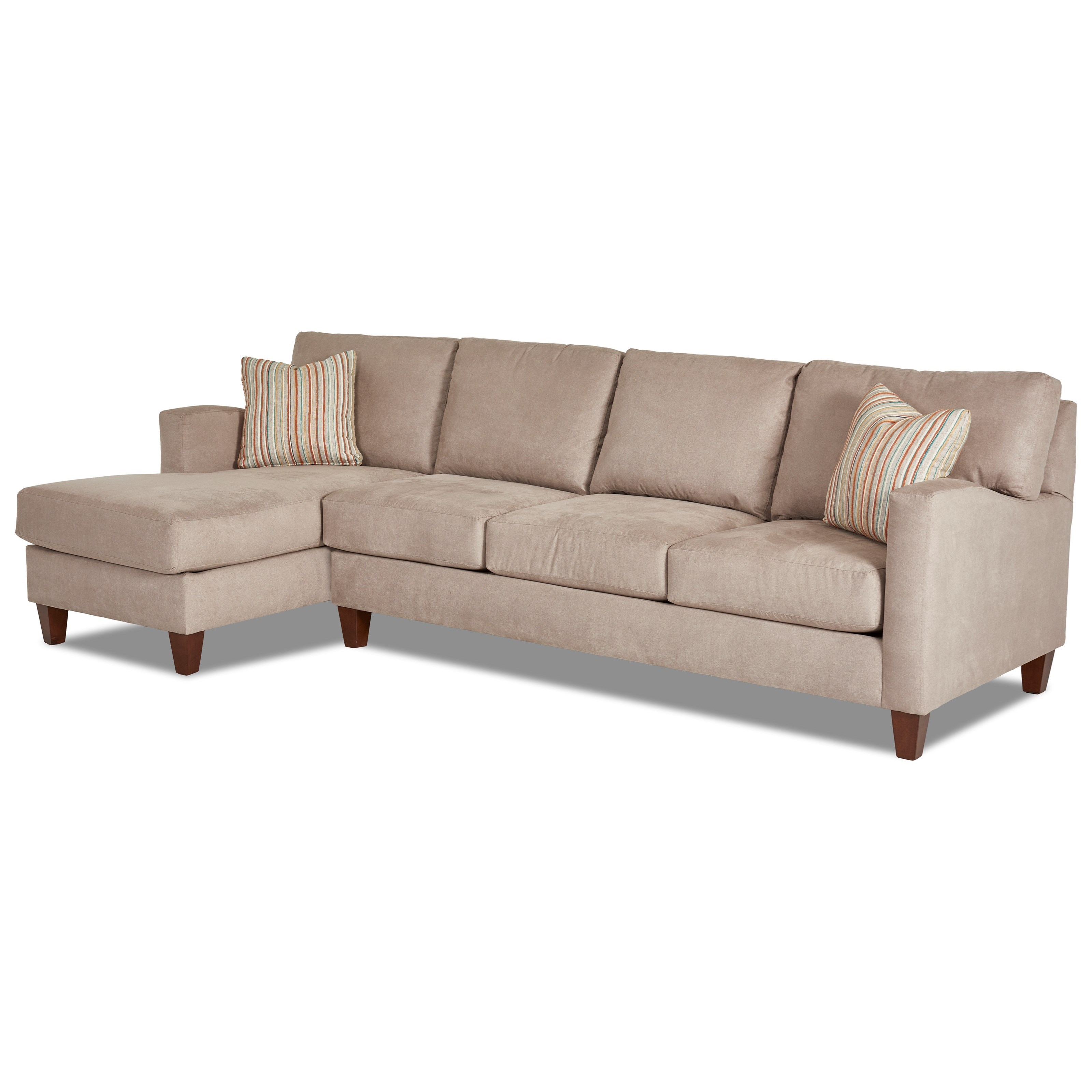 Klaussner Colleen 2 Pc Stationary Sectional w/ LAF Chaise - Item Number: K19300L CHASE+K19300R S
