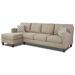 Klaussner Colleen 2 Pc Stationary Sectional w/ LAF Chaise