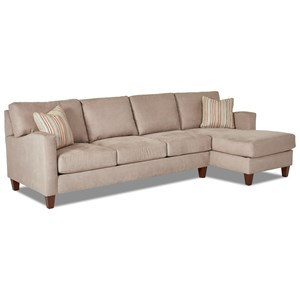 Elliston Place Colleen 2 Pc Stationary Sectional w/ RAF Chaise