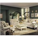 Klaussner Comfy Casual Sofa - Shown With Chaise and Big Chair
