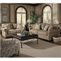 Klaussner Comfy Casual Sofa - Shown With Loveseat